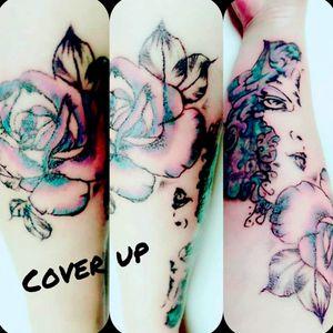 #coverup #tattoo #arm #artist #tattoodo #follow #followforfollower #Aquarell #ink #worldfamousink #fusionink #cheyene #frau #inked #tattoodo#tattoodoambasador #inked #tattoodo #rosen #rose #
