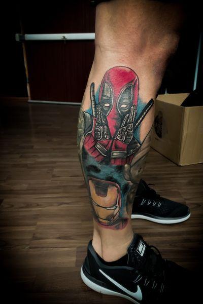 #deadpooltattoo#marvel#ironman#painandpleasuretattoostudio#vienna#wien#tattooartist#tattoos#tattoo#openbookings#booknow#tattooist#ink#inked#