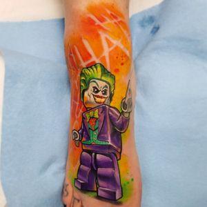 Lego Joker! #Lego #legotattoo #batman #batmanjoker #JokerTattoos #jokertattoo #joker #legojoker #DCTattoos #dccomics