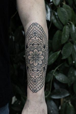 Sacred mandala - part of full sleeve