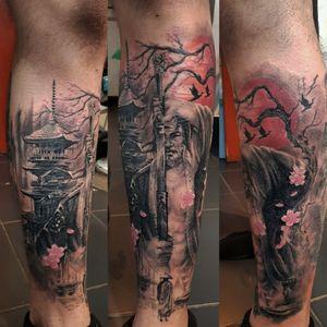 Healed.. color and background fresh #tattoing #tattoo #tattooshop #tattoowork #tattooink #tattooinsta #tattoodesign #tattoodo #ink #inked #inkedlife #legtattoo #blackandgreyrealismtattoo #blackandgrey #blackandgreytattoo #realistictattoo #portraittattoo #inkmachines #dragonflytattoomachine #kwadronneedles #tattooinsta #tattooart #tattooartis #tattoosleeve #tattooideas #tattoostyle #tattooer #tattoosofinstagram #tattoolifestyle #ink #inked #samurai #samuraitattoo