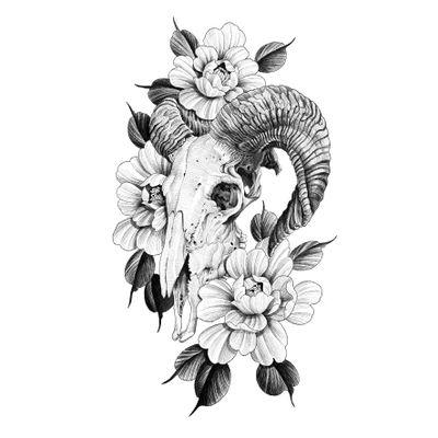 양(미, 未) Year of sheep. . 예약가능한 도안 입니다. Available design. . . . . #tattoo #tattoodesign #blackwork #blackworkers #flash #tattooflash #zodiac #sheep #skull #peony #halfsleeve #drawing #art #illustration #illsontattoo #타투 #타투도안 #블랙워크 #양 #해골 #작약 #반팔타투 #일러스트 #그림 #그림스타그램 #상수타투 #홍대타투 #일손타투