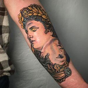 Apollo in the color of Mercury , covering up scars ; Custom work for F****** ; Done @sticksandstonesberlin ; inquiry & booking : DM or 📧 paixletattooer@gmail.com #customtattoo #tattoo #apollotattoo #tattoodesign #tattooideas #berlintattoo #tattooberlin #berlintattooers #tattoodo #tttism #tattooartistmagazine #tattooed #inked #tattoovideo #thinkbeforeuink #taot #neotraditinal #neotraditionaltattoo #tattooworkers #neotradstyle #neotradsub #neotradworldwide #ntgallery @tattoodo #statuetattoo #greekmithology #apollo #neukölln #colortattoo #타투 #刺青