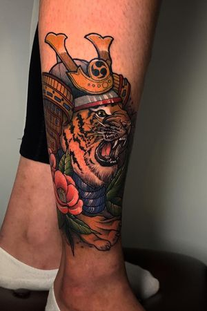 #tiger #tattoo #legtattoo #samuraitattoo #japanestattoo