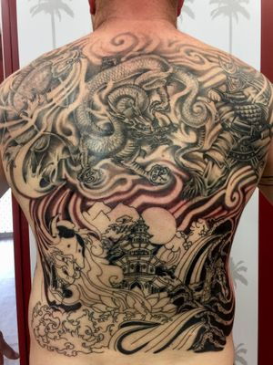 Traditional Japanese back piece in progress..