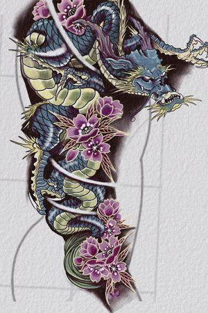 Dragon drawing I wanna tattoo