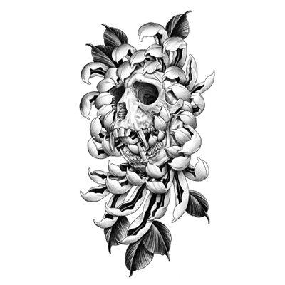 원숭이(신, 申) Year of monkey. . 예약가능한 도안 입니다. Available design. . . . . #tattoo #tattoodesign #blackwork #blackworkers #flash #tattooflash #zodiac #monkey #skull #chrysanthemum #halfsleeve #drawing #art #illustration #illsontattoo #타투 #타투도안 #블랙워크 #원숭이 #해골 #국화 #반팔타투 #일러스트 #그림 #그림스타그램 #상수타투 #홍대타투 #일손타투
