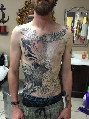 In progress Phoenix torso piece