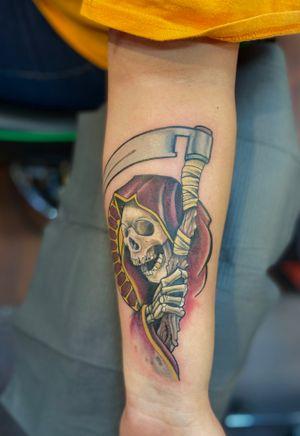 Neo traditional grim reaper