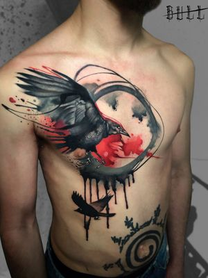#crow #crowtattoo #crows #pescara #montesilvano #abruzzo #tattoo #tattoos #watercolourtattoo #corvo #corvi #tatuaggi #tatuaggio