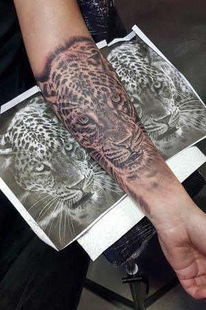 #leopard #leopardtattoo #leopardprint #realism #tattoo #forearmtattoo
