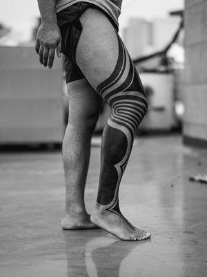 Tribal leg sleeve.