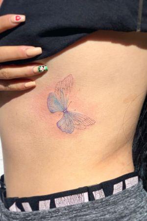Custom light butterfly done in london
