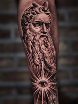 Moses with the eye. Done while guesting at The Raven and the Wolves studio.