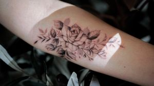 lilies and a rose