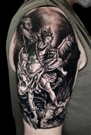 Tattoo done by #kyledevries. Follow me on Instagram @kyledevriesink.