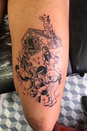 #drawing #tattoo #inked #ink #flashtattoo #tattooflash #paris #paristattoo #sketchtattoo #sketch #tatouage #perso #charactersketch #france #dessin #blackwork #black #paint #cartoon #bw #tattoo #tattoos #cops #pig #disney #cochon