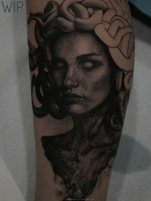 #MedusaTattoo *Work in Progress* . . #blackandgraytattoo #blackworktattoo #art #artistinCT #artist #darkarts #blackarktattoo #blackworktattoo #customtattoo #darkart #artist #tattooartistfromCT #tatuajesenCt #MannyTattooArtist #ManuelCruzTattooArtist #S8TANtattoo #darkimagery #darkarts #snaketattoo #portraittattoo #portrait #tattoo #realismtattoo #portraittattoo #realistictattoo #girlwithtattoos #girltattoos