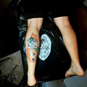 Adventure Time! Finished one of my earliest work #adventuretime #adventuretimetattoo #practice #learning #learningtotattoo #everythingpossible #tattoos #tattoolifestyle #tattoonewbie #ink #inked #daretochange #daretobedifferent #workingheroes #beginnertattooartist #selftattooing #tattooedgirls #tattooworkers #inkstagram #tattoosession #myinkprints2019