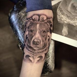 #memorialtattoo #blackandgreytattoo #puppy
