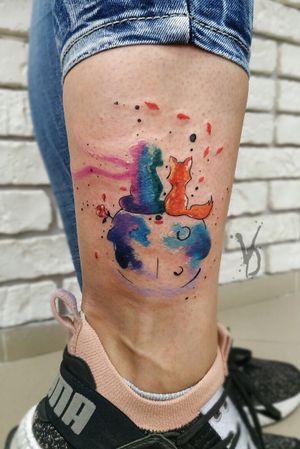 #tattoo #tattooed #tatt #tattooart #tattoos #victoriadenske #kyivtattoo #the_tattooed_ukraine #tattooedgirls #ink #inked #littleprincetattoo #littleprince #beautiful #instaart #instatattoo #watercolortattoo #colortattoo #foxtattoo #kievtattoo #inkedup #amazingink #inkstinktsubmission #wctattoos  #inkedgirls #tattoodo