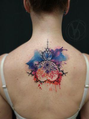 #tattoo #tattooed #tatt #tattoos #watercolortattoo #colortattoo #mandelbrot #fractal #ink #inked #art #tattooart #instatattoo #tattooer #linework #inkstinktsubmission #wctattoos #tattoodo #tattooedgirls #inkedgirl #spacetattoo