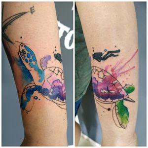 #tattoo #tattooed #tatt #tattooart #ta2 #victoriadenske #wctattoos #inkstinktsubmission #tattoodo #watercolortattoo #turtle #ink #inked #inkedgirls #instatattoo #beautiful #lineart #colortattoo #kyivtattoo #tattooedukraine #kievtattoo