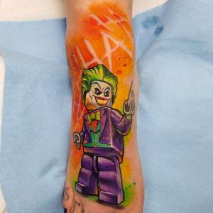Lego (Batman) Joker #legotattoo #legojoker #legobatman #foottattoo #comicbook #ComicTattoos #JokerTattoos