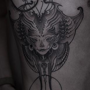 Tattoo by Pinyeyu #Pinyeyu #blackwork #dotwork