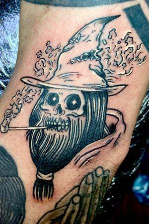 Skull wizard piece