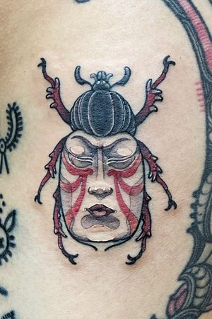 Sumo Bug Tattoo filler. Thanks for picking up my flash :) Matching the color scheme right to her collection :)