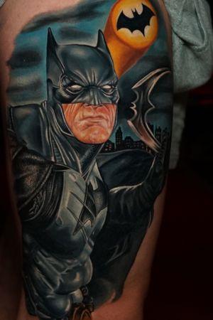 Batman Tattoo by Ruben Barahona - Graveyard New York City