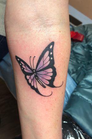 Little butterfly on forearm