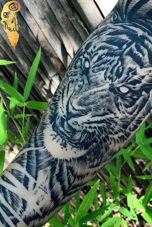 Tiger Tattoo by A.B. Garza  #abgarza #abgarzatattoos #abgarzacollection #Austin #blackandgrey #realism #realistic #bngsociety #worldwideartist #tigertattoo #california #newyork #canada #hawaii #chicago #tattooartist
