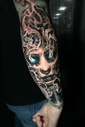 #ghost #skull #evil #horror #freehand #boyetattoo #blackandgrey