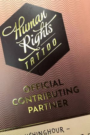 In december I tattooed for Human rights tattoo.