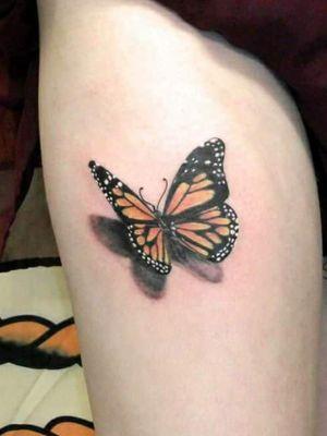 3d butterfly tattoo #butterflytattoo #Hull #Yorkshire #tattooartist #tattooart