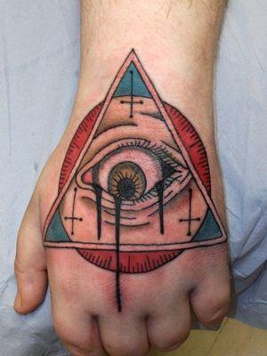 New school eye tattoo