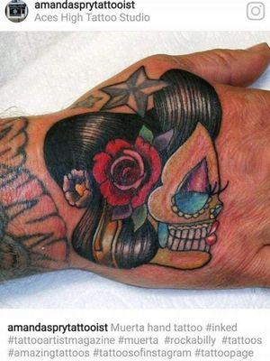 Muerta hand tattoo