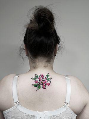 Flower 💐 Bookings only via Instagram. 🇱🇹 Lithuania, Kaunas 📸 Instagram: @nikita.tattoo 📨 info.artistnikita@gmail.com 🧭 #tattoo #tattoos #tattoodesign #tattooartist #linework #lineworker #lineworktattoo #blackworker #blackwork #kaunas #lithuania #inked #colortattoo #colourtattoo #splashcolors #splatertattoo #watercolortattoo #floral #floraltattoo #flowertattoo #flowers