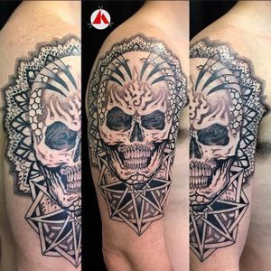 There's something so arresting when looking at a human or animal skull! I can also incorporate mandalas within the design and esoteric symbols.