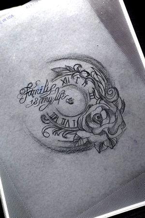 #uhr #rose #tattoo #artist #follow #followforfollower# #nadel#frau#inked #tattoodo #tattoodoambassasor #artist #inkedwoman #inkspector #blackandgrey #Buchstaben#liebe#love