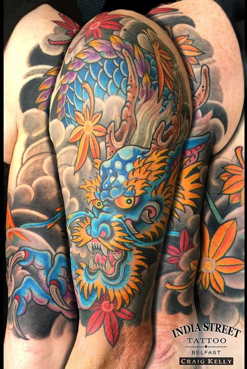 Japanese half sleeve dragon