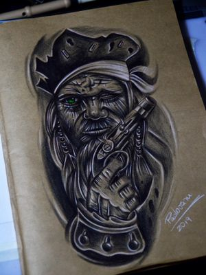 #piratetattoo #piratatattoo #thiagopadovani #tattoosketch #pirate #pirata