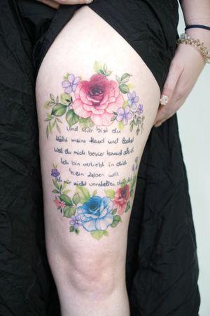 #healed #tattoo #flowertattoo #floraltattoo #seoultattoo #Koreatattoo #koreatattooist #watercolotattoo #thightattoo #flower #colortattoo