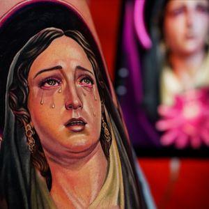 Virgin Mary un progress by Ruben Barahona @rubenbtattoo #rubenbtattoo #rubenbarahona #nycartist