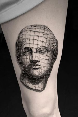 #tattoodesign #tattooflash #tattoodo #tattoos #blackwork #tattooidea #detailed #detail #singleneedle #venera #sculpture #contemporary #portrait #blackansgrey #blackwork #dotwork