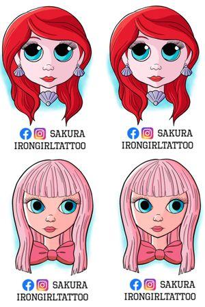 Print for buying @sakurairongirltattoo Facebook and Instagram send msg