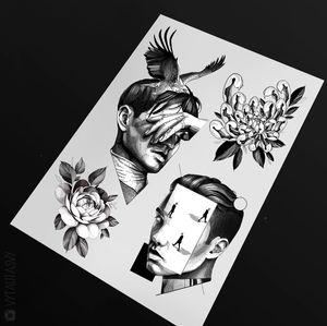 #tattoodesign #tattooflash #tattoodo #tattoos #blackwork #tattooidea #detailed #detail #singleneedle #rose #flower #floral #sculpture #contemporary #portrait #blackansgrey #blackwork #dotwork