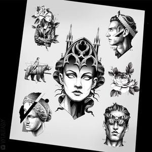#tattoodesign #tattooflash #tattoodo #tattoos #blackwork #tattooidea #detailed #detail #singleneedle #floral #flower #rose #sculpture #contemporary #portrait #blackansgrey #blackwork #dotwork #available